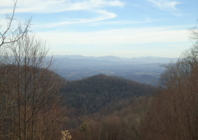 Mountain view with asheville in the distance