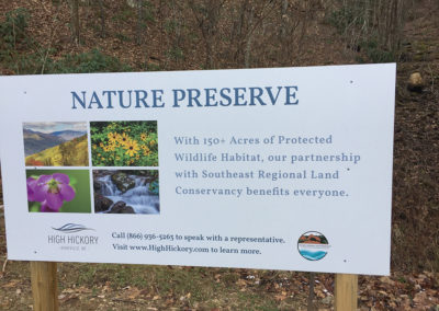 "photo of sign that reads ""Nature Preserve"""